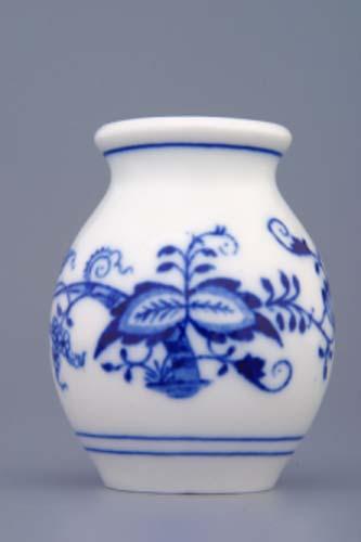Cibulák váza 1209, 7 cm, originální cibulákový porcelán Dubí, cibulový vzor,