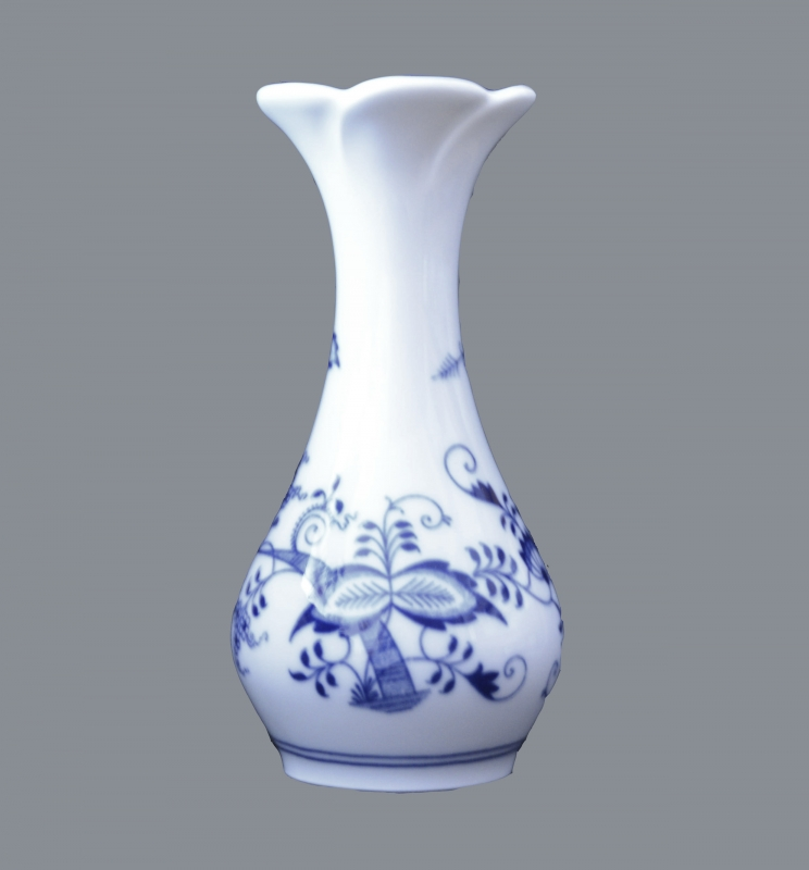 Cibulák váza kytka , originální cibulákový porcelán Dubí, cibulový vzor,