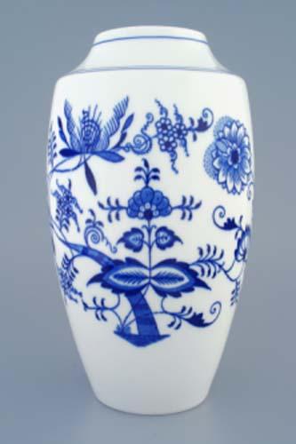 Cibulák váza 1211, 27 cm originální cibulákový porcelán Dubí, cibulový vzor,