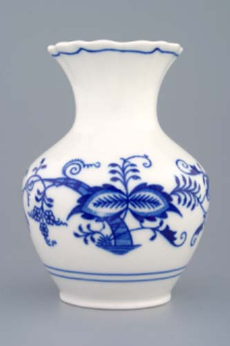 Cibulák váza 2544 , 13,5 cm originální cibulákový porcelán Dubí, cibulový vzor,