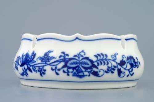 Cibulák popelník kulatý s výřezy 13 cm originální cibulákový porcelán Dubí, cibulový vzor,