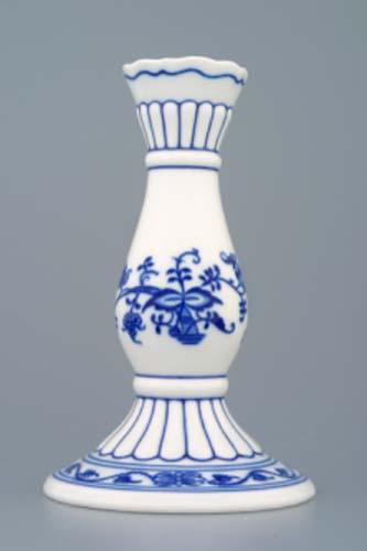 Cibulák svícen 1969, 16 cm originální cibulákový porcelán Dubí, cibulový vzor,