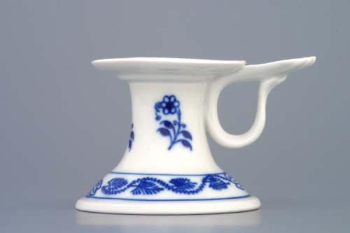 Cibulák svícen 1991 s ouškem 6,5 cm originální cibulákový porcelán Dubí, cibulový vzor,
