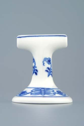 Cibulák stojánek na jmenovky 7 cm originální cibulákový porcelán Dubí, cibulový vzor,