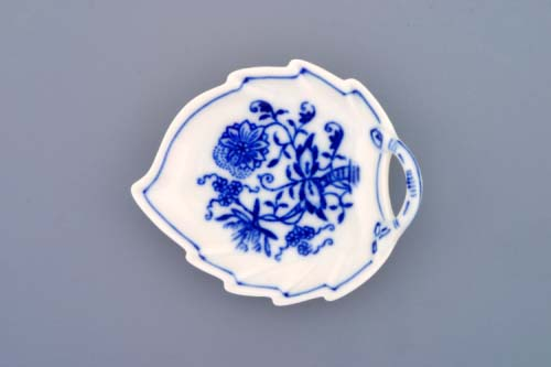 Cibulák mísa list mini 8 cm originální cibulákový porcelán Dubí, cibulový vzor,
