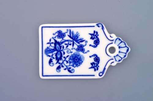 Cibulák podnos na chléb mini 9 cm originální cibulákový porcelán Dubí, cibulový vzor,