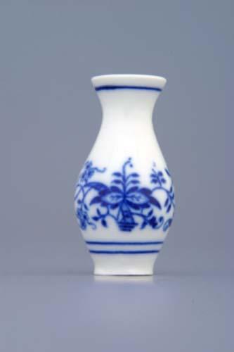 Cibulák váza 1210 mini 6 cm originální cibulákový porcelán Dubí, cibulový vzor,