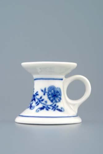 Cibulák svícen mini s ouškem 4,5 cm originální cibulákový porcelán Dubí, cibulový vzor,
