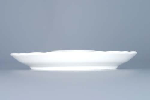 Cibulák kalíšek na vejce nízký talířek 13 cm originální cibulákový porcelán Dubí, cibulový vzor,