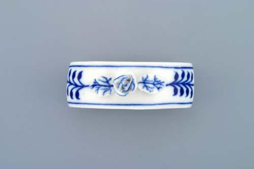 Cibulák kroužek na ubrousky s růží 7 cm originální cibulákový porcelán Dubí, cibulový vzor,