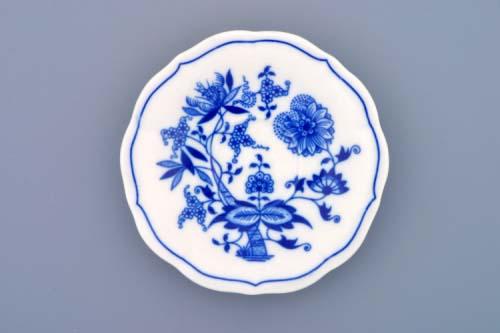 Cibulák podšálek zrcadlový nízký ZC/2 12,4 cm originální cibulákový porcelán Dubí, cibulový vzor,