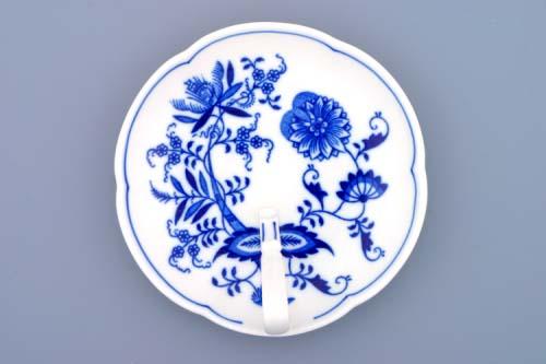 Cibulák miska s uchem 17 cm originální cibulákový porcelán Dubí, cibulový vzor,