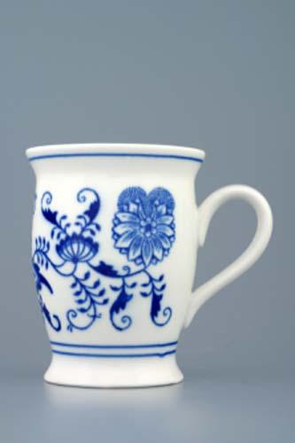 Cibulák hrnek Malis 0,30 l originální cibulákový porcelán Dubí, cibulový vzor,