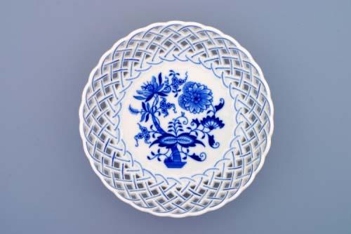 Cibulák Mísa kulatá prolamovaná 18 cm originální cibulákový porcelán Dubí, cibulový vzor,