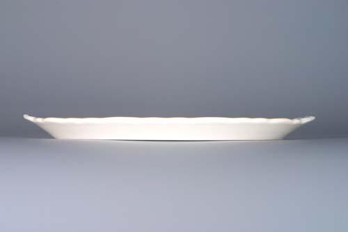 Cibulák podnos kulatý pod 3 karafky 20,5 cm originální cibulákový porcelán Dubí, cibulový vzor,