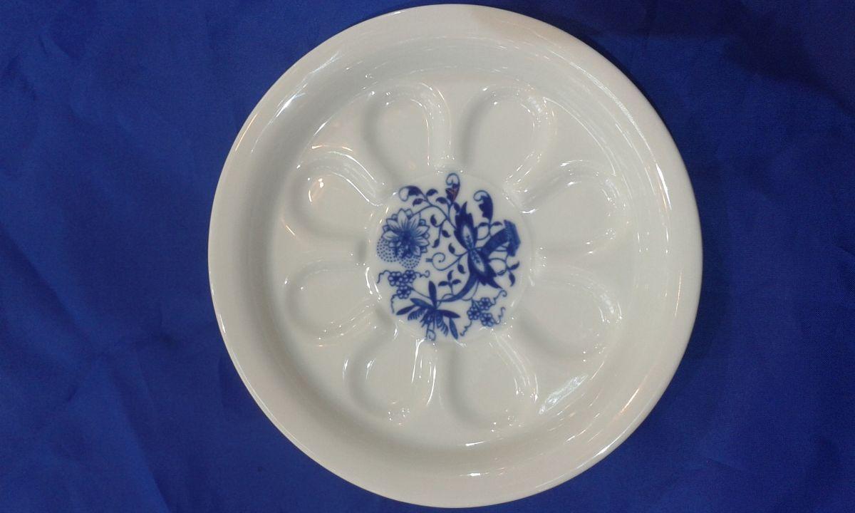 Cibulák pivní tácek 13 cm originální cibulákový porcelán Dubí, cibulový vzor,