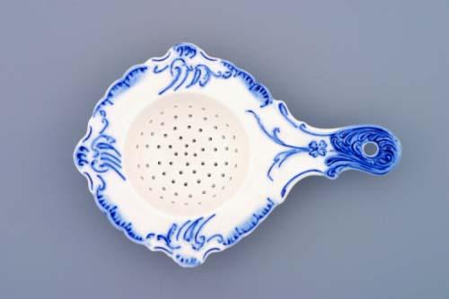 Cibulák sítko na čaj 16 cm originální cibulákový porcelán Dubí, cibulový vzor,