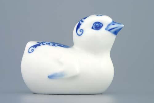 Cibulák kuřátko 8 cm originální cibulákový porcelán Dubí, cibulový vzor,