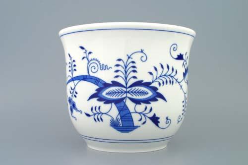 Cibulák květináč bez uch bez nožky 22 cm originální cibulákový porcelán Dubí, cibulový vzor,