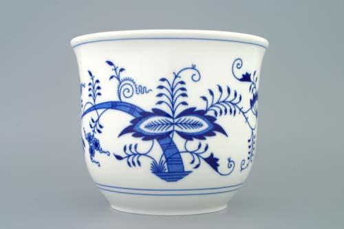 Cibulák květináč bez uch bez nožky 19 cm originální cibulákový porcelán Dubí, cibulový vzor,