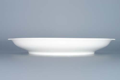 Cibulák Talíř kupový s uchy 24,6 cm originální cibulákový porcelán Dubí, cibulový vzor,