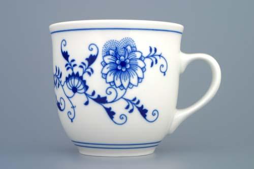 Porcelán Cibulák hrnek 0,40 L Mirek M, originální cibulákový porcelán Dubí, cibulový vzor,
