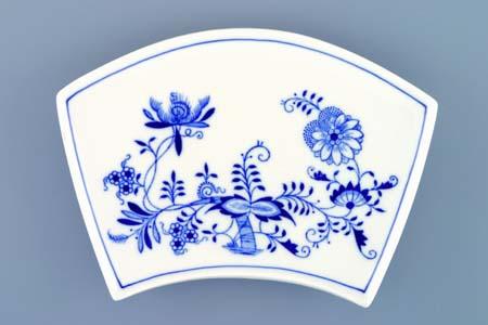 Cibulák Miska Fan plochá 19,4 cm originální cibulákový porcelán Dubí, cibulový vzor,