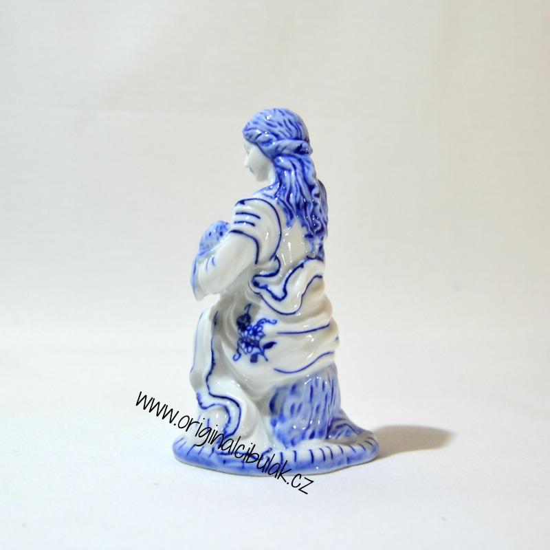 Cibulák Panenka Marie 12 cm originální cibulákový porcelán Dubí, cibulový vzor,