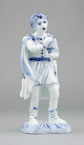 Cibulák Král Baltazar 16 cm originální cibulákový porcelán Dubí, cibulový vzor,