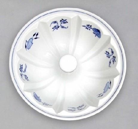 Cibulák Pečící forma bábovka velká 1,8 l originální cibulákový porcelán Dubí, cibulový vzor,