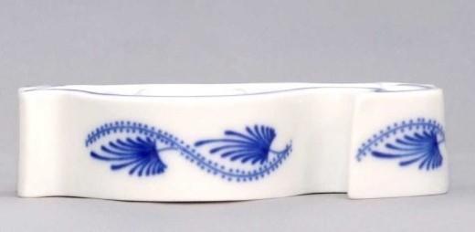 Cibulák Svícen plochý ryba 9,2 cm originální cibulákový porcelán Dubí, cibulový vzor,