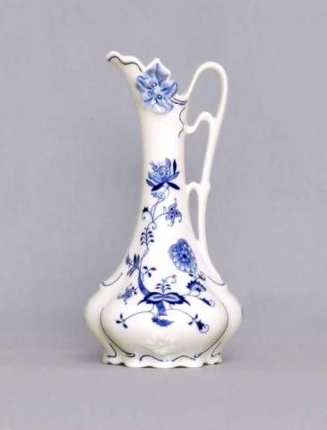Cibulák Váza 21 cm - džbánek secesní 11214, originální cibulákový porcelán Dubí, cibulový vzor,