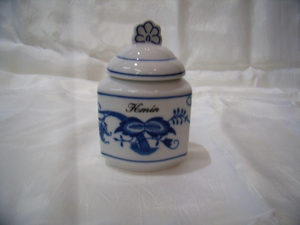 Cibulák kořenka s víčkem a nápisem 0,20 l originální cibulákový porcelán Dubí, cibulový vzor