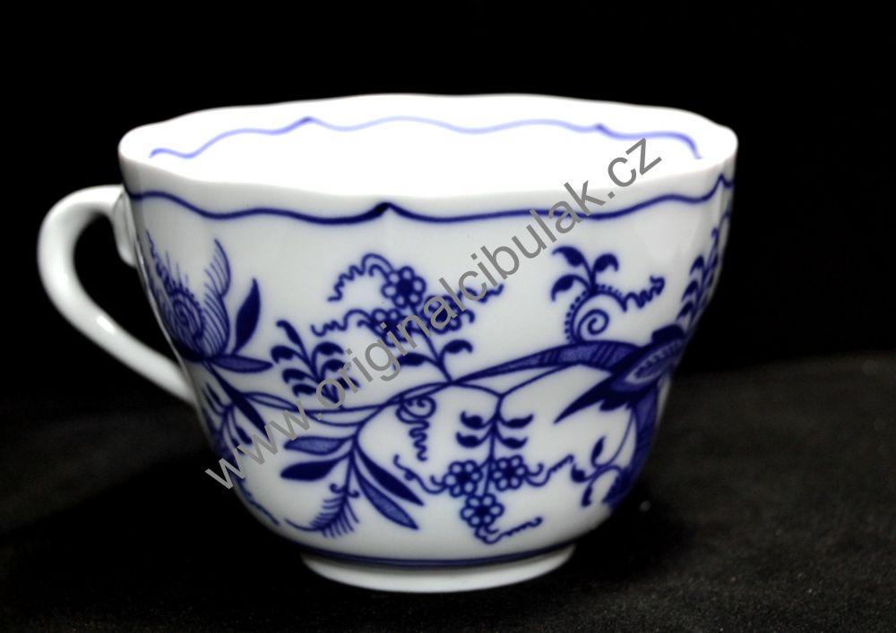 Cibulák šálek + podšálek C + C 0,25 l originální cibulákový porcelán Dubí, cibulový vzor