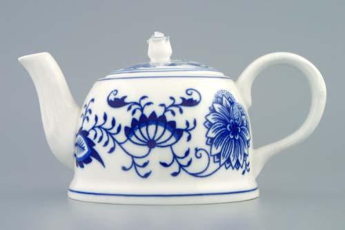 Cibulák konvice čajová M s víčkem 0,35 l originální cibulákový porcelán Dubí, cibulový vzor,