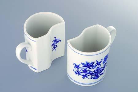 Cibulák Souprava 2 ks hrnků Duo pravý M, 2 x 0,24 l, originální cibulákový porcelán Dubí, cibulový vzor