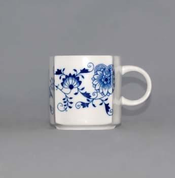 Cibulák Šálek Vito 0,21 l originální cibulákový porcelán Dubí, cibulový vzor 1. jakost