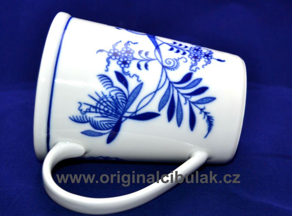 Cibulák hrnek Erin M 0,42 l, originální cibulákový porcelán Dubí, cibulový vzor,