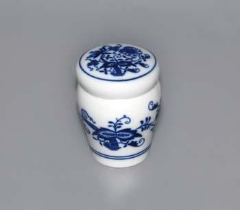 Cibulák dózička s těsněním uzávěr bajonet 0,10 l originální cibulákový porcelán Dubí, cibulový vzor,