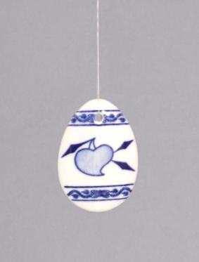 Cibulák velikonoční vajíčko závěsné 5,5 cm originální cibulákový porcelán Dubí, cibulový vzor,