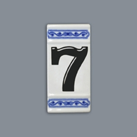 Cibulák číslo na dům, 11 cm originální cibulákový porcelán Dubí, cibulový vzor,