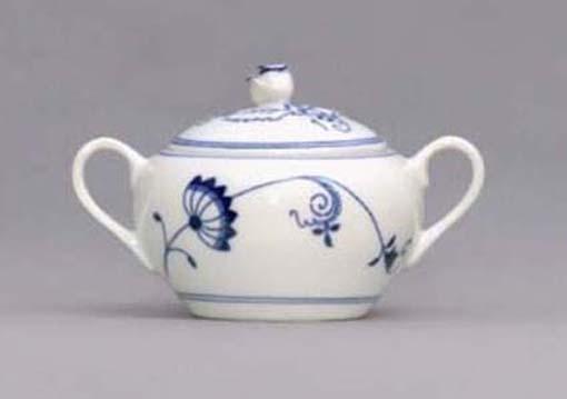 Cukřenka s oušky s víčkem bez výřezu 0,30 l ECO cibulák cibulový porcelán Dubí