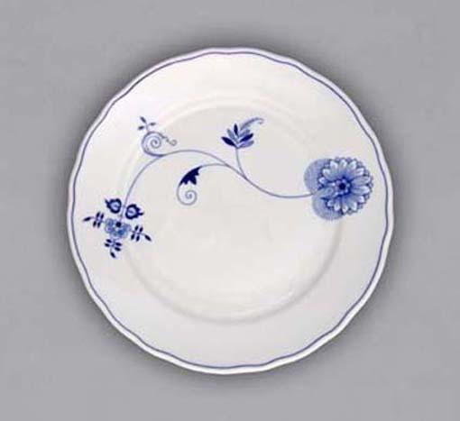Talíř mělký praporový 26cm - ECO cibulák, cibulový porcelán Dubí