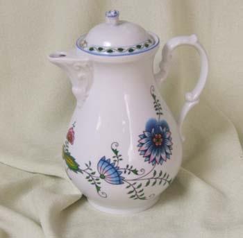 Konvice kávová s víčkem 1,55 l NATURE barevný cibulák, cibulový porcelán Dubí