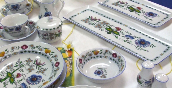 Mísa kompotová vysoká 21 cm NATURE barevný cibulák, cibulový porcelán Dubí