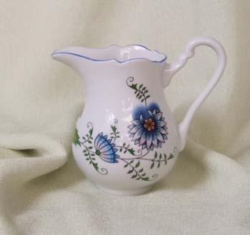 Mlékovka vysoká 0,25 l, NATURE barevný cibulák, cibulový porcelán Dubí