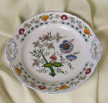 Talíř koláčový s uchy 28 cm Nature barevný cibulák, cibulový porcelán Dubí