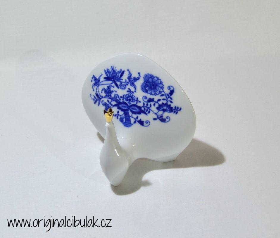 Cibulák páv 12,5 cm originální cibulákový porcelán Dubí, cibulový vzor,