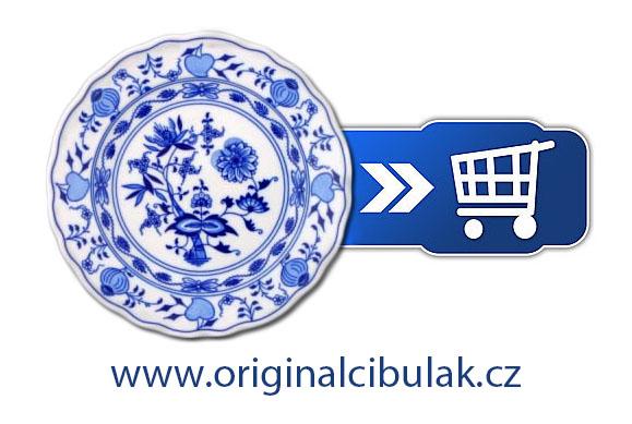 Porcelán Cibulák Talíř desertní 19 cm - originální cibulák,cibulový porcelán Dubí
