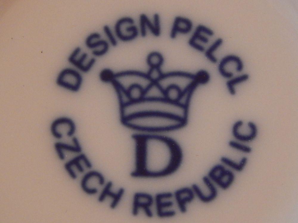 Podšálek káva,čaj Bohemia Cobalt - design prof. arch. Jiří Pelcl, cibulový porcelán Dubí